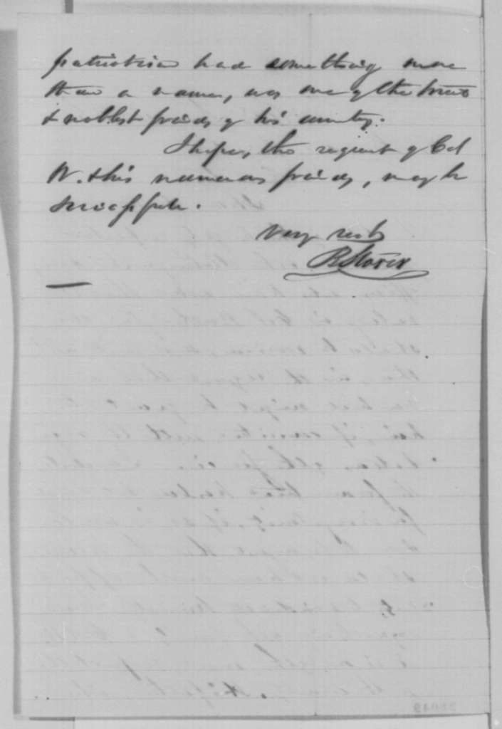 Bellamy Storer to Abraham Lincoln, Monday, November 16, 1863  (New trial for Colonel Thomas Worthington)