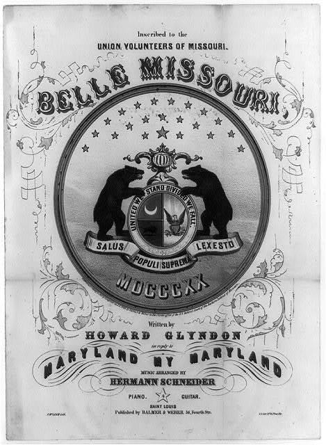 Belle Missouri, written by Howard Glyndon
