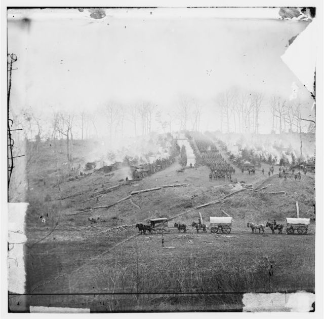 Belle Plain, Virginia. Camp of 150th Pennsylvania Infantry
