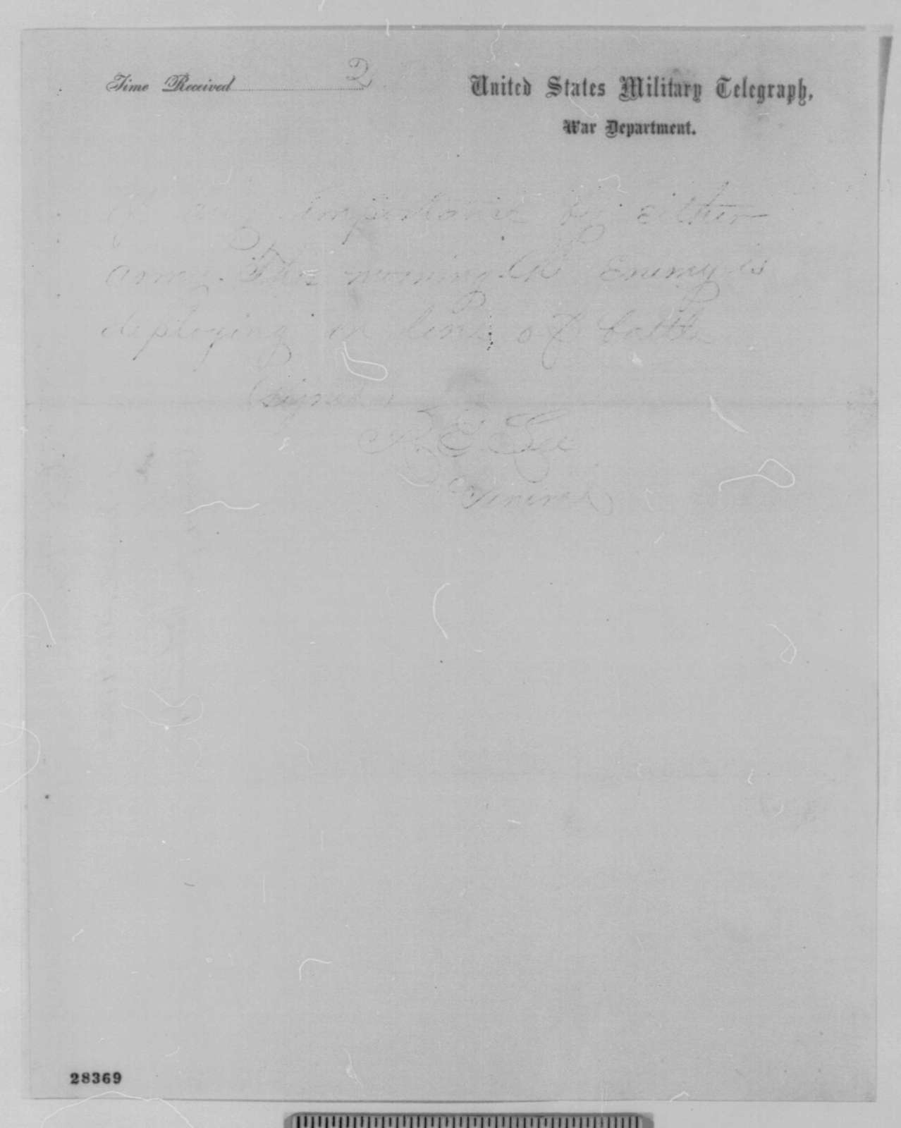 Benjamin F. Butler to Edwin M. Stanton, Tuesday, December 01, 1863  (Telegram reporting news from Richmond papers)