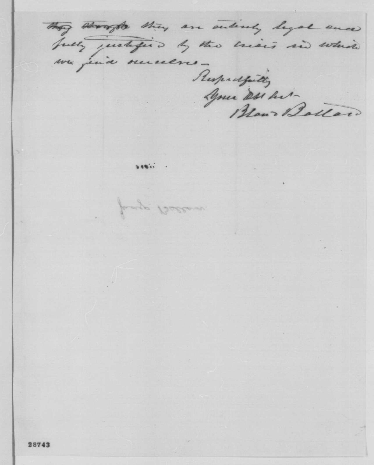 Bland W. Ballard to Abraham Lincoln, Friday, December 18, 1863  (Military affairs in Kentucky)