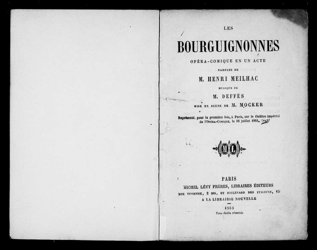 Bourguignonnes. Libretto. French