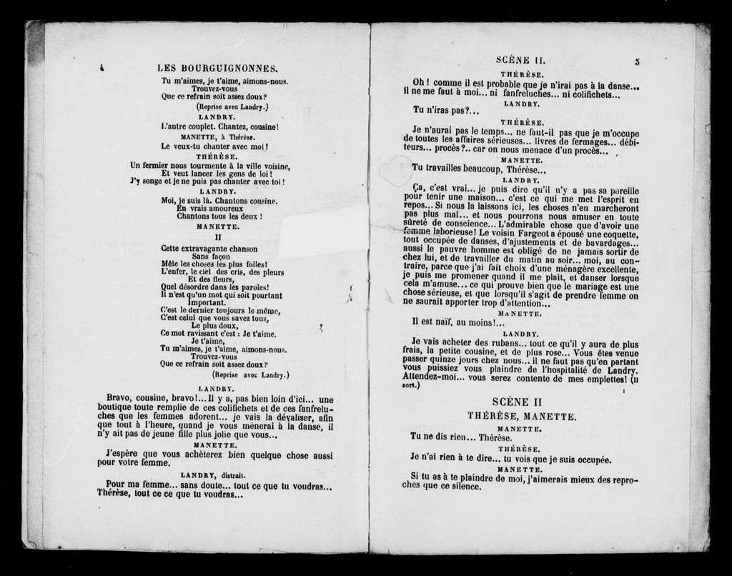 Bourguignonnes. Libretto. French