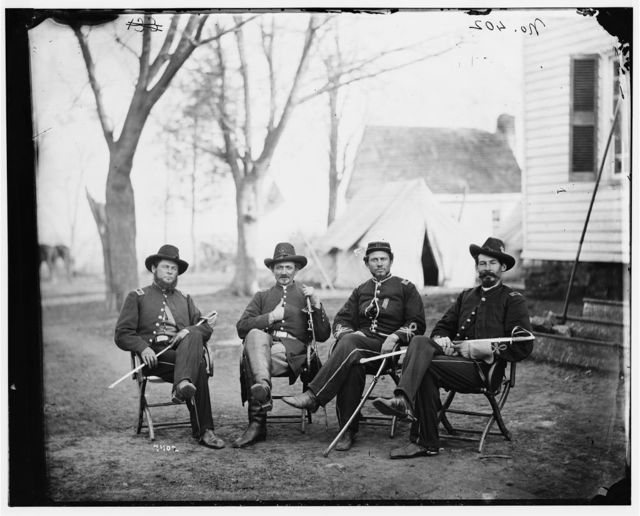 [Brandy Station, Va. Four provost marshals of the 3d Army Corps]