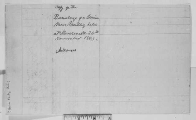 Burk Johnson, et al., Thursday, November 26, 1863  (Resolutions of Union mass meeting at Dardanelle, Arkansas)
