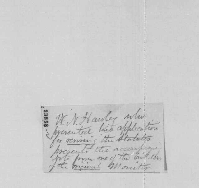 C. S. Bushnell to Abraham Lincoln, Thursday, June 04, 1863  (Recommendation for W. N. Hawley)