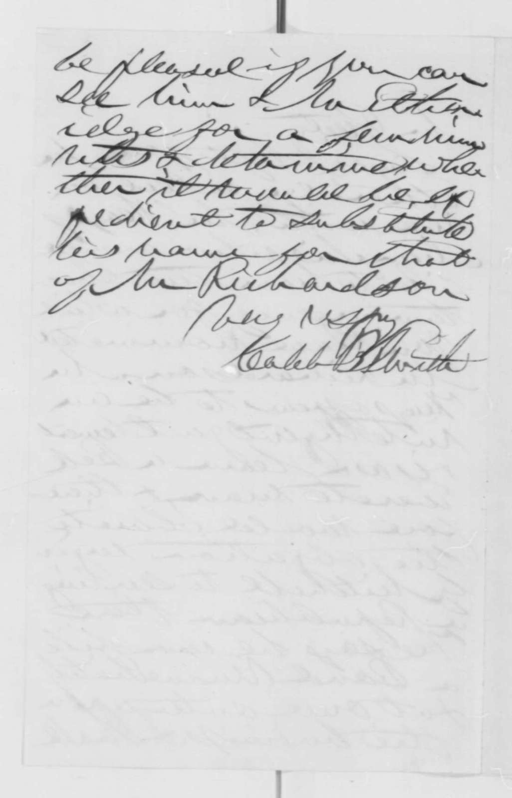 Caleb B. Smith to Abraham Lincoln, [March 1863]  (Appointment)