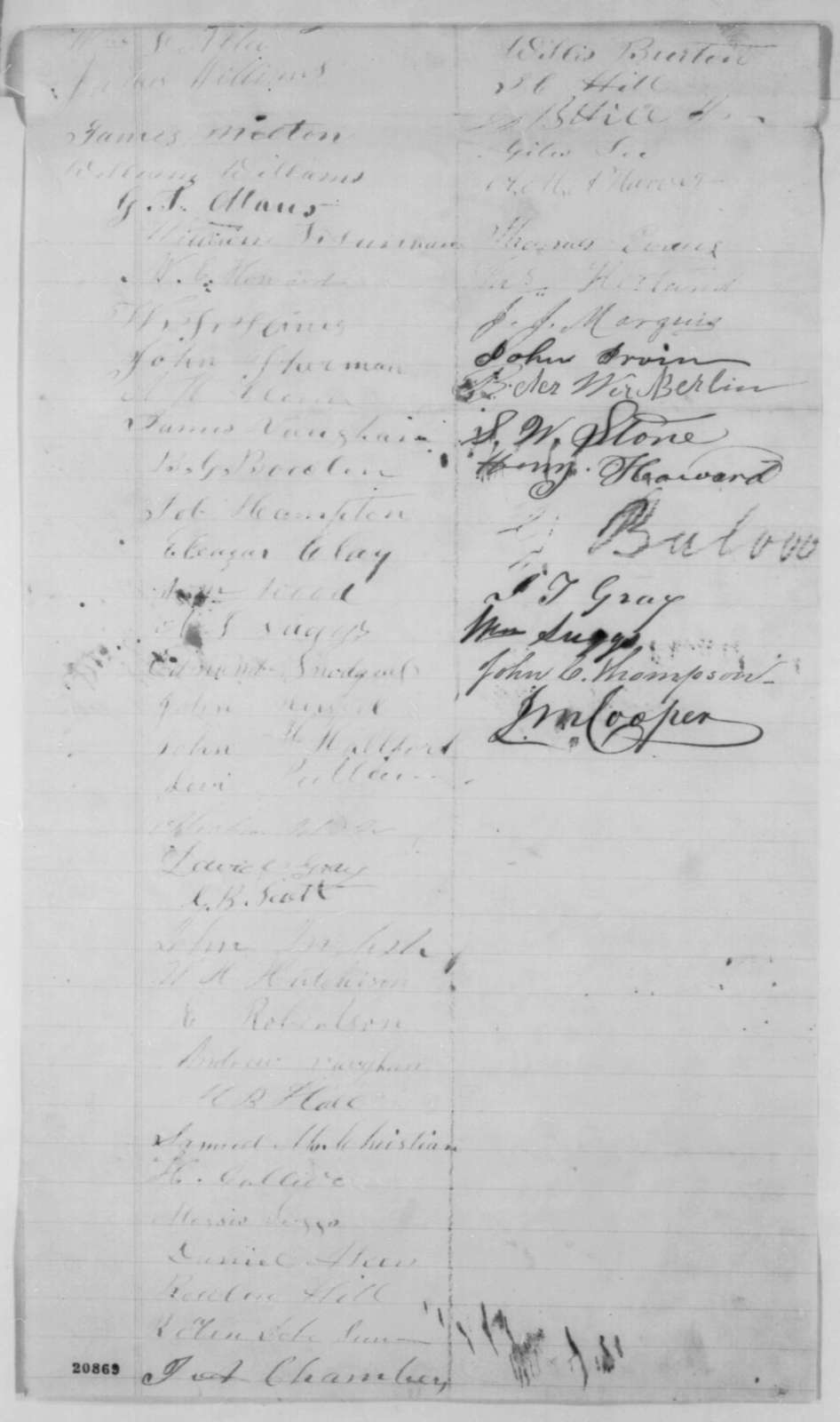 California Missouri Citizens to Abraham Lincoln, Thursday, January 01, 1863  (Petition requesting repeal of General Schofield's General Order No. 3)