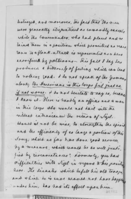 Carl Schurz to Abraham Lincoln, Thursday, May 28, 1863  (Recommends that General Sigel be placed in command of the XI Corps)