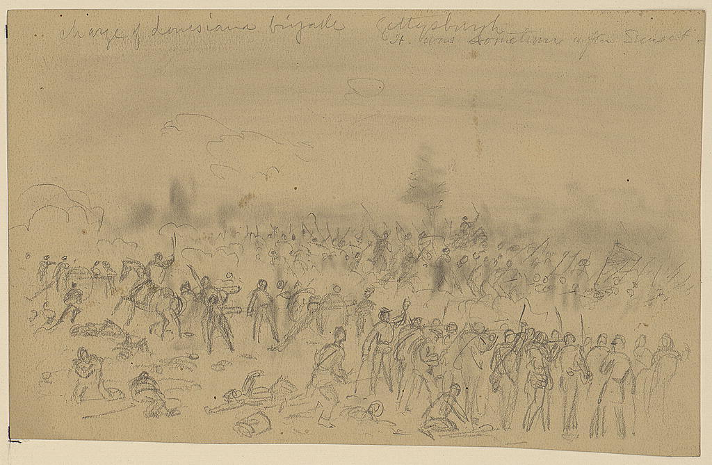 Charge of Louisiana brigade Gettysburgh [sic]