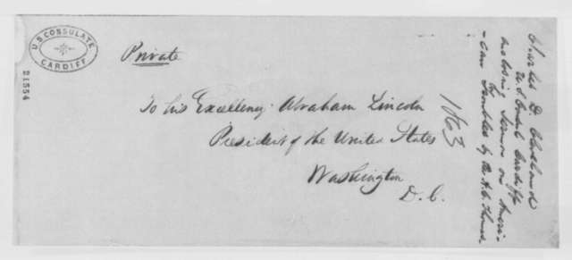 Charles D. Cleveland to Abraham Lincoln, Thursday, February 05, 1863  (Sends sermon from Wales)