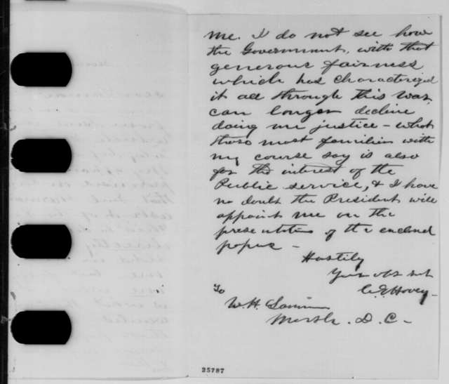 Charles E. Hovey to Ward H. Lamon, Saturday, August 22, 1863  (Promotion to brigadier general)