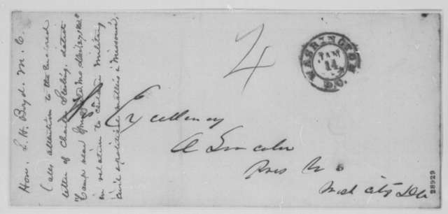 Charles Stierlin to Sempronius H. Boyd, Sunday, December 27, 1863  (Military affairs in Missouri; endorsed by Boyd)