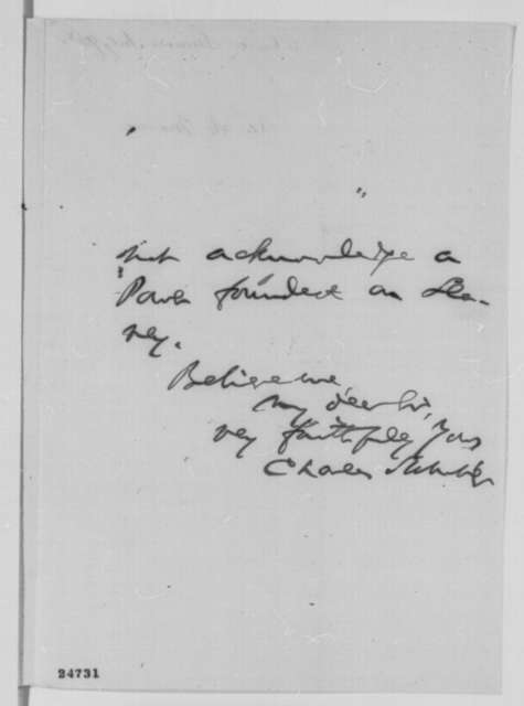 Charles Sumner to Abraham Lincoln, Thursday, July 09, 1863  (Introduces James Massie)