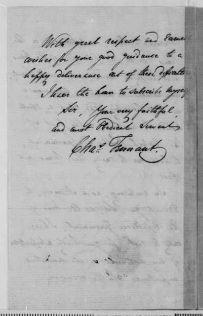Charles Tennant to Abraham Lincoln, Thursday, January 29, 1863  (Advice on how to preserve Union)