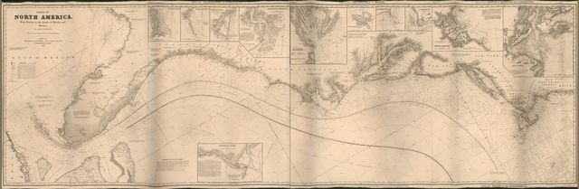 Chart of North America from Boston to the Strait of Florida and Havana : in 4 sheets /
