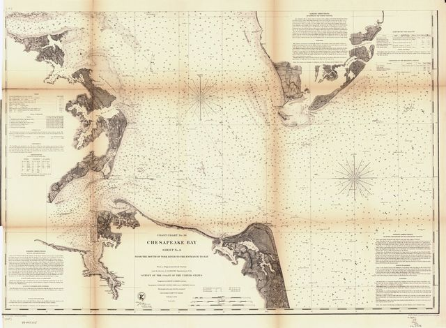 Chesapeake Bay. Sheet 6, from the mouth of York River to the entrance to bay.