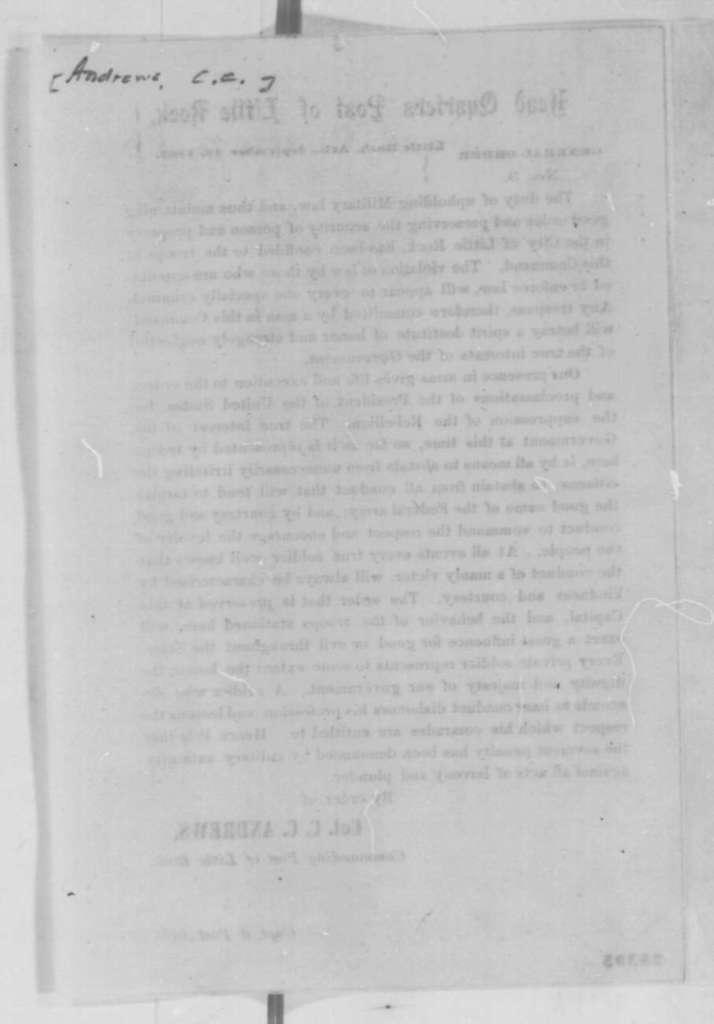 Christopher C. Andrews, Wednesday, September 16, 1863  (Printed General Orders)