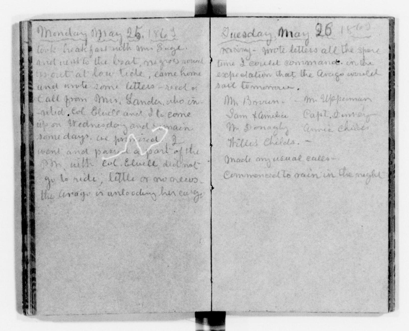 Clara Barton Papers: Diaries and Journals: 1863, Apr. 2-July 23