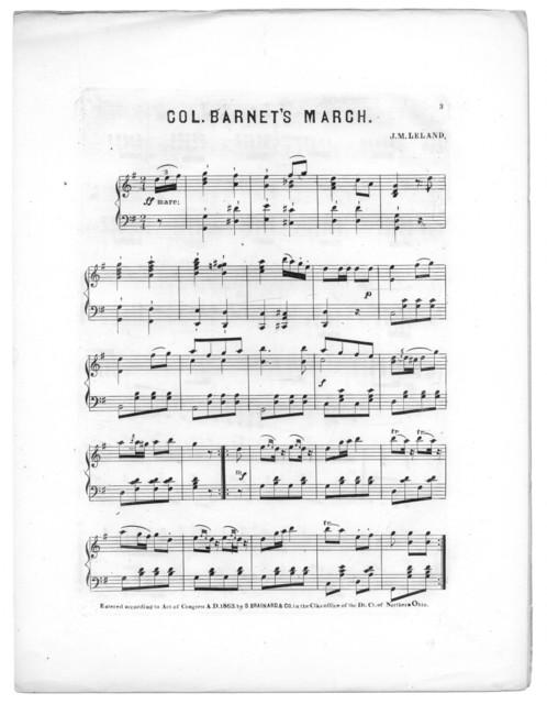 Col. Barnet's march