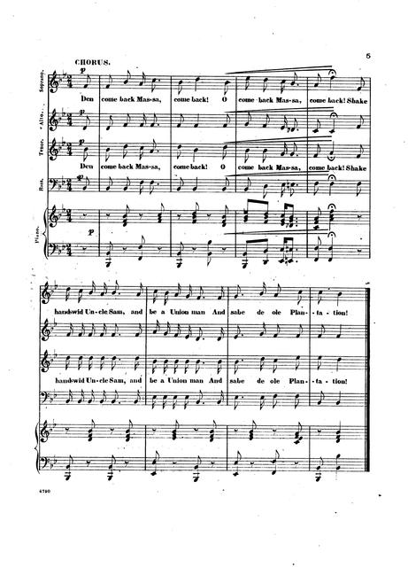 Come back massa, come back: as sung by C. Henry at Wood's Minstrels, 514 Broadway, N. Y. words by I. W. Lucas, Esq.; composed and arranged by Gomez.