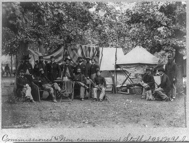 [Commissioned & non-com. staff of 93rd N.Y. Infy. Bealton, Va., Aug. 1863]