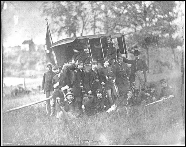 [Culpeper, Va. Gen Robert O. Tyler and staff of the Artillery Reserve]