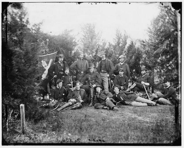 [Culpeper, Va. Gen Robert O. Tyler and staff of the Artillery Reserve; another view]