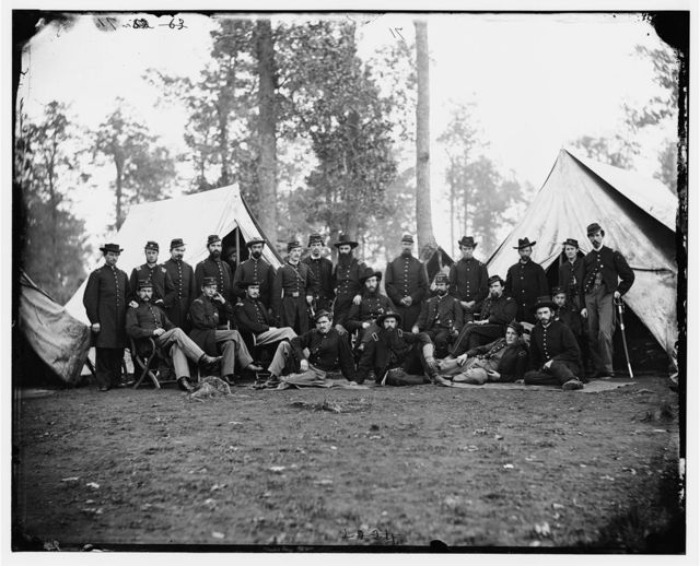[Culpeper, Va. Officers of the 80th New York Infantry, Provost Guard]