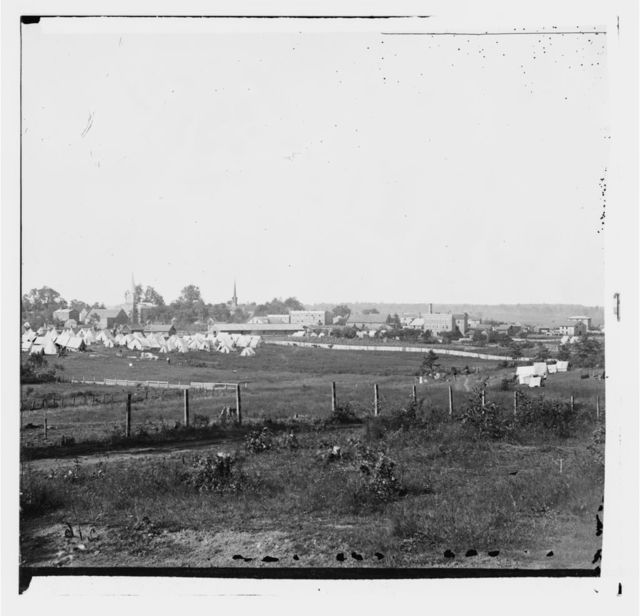 Culpeper, Virginia. Distant view of town and Federal camp