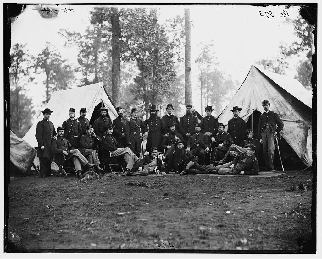 "Culpeper, Virginia. Officers of 80th New York Infantry (""Alston Guard."" ""20th Regiment State Militia Infantry."")"
