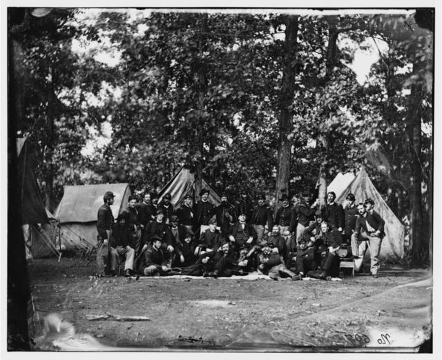 Culpeper, Virginia. Officers of the U.S. Horse Artillery Brigade commanded by Capt. James Robertson