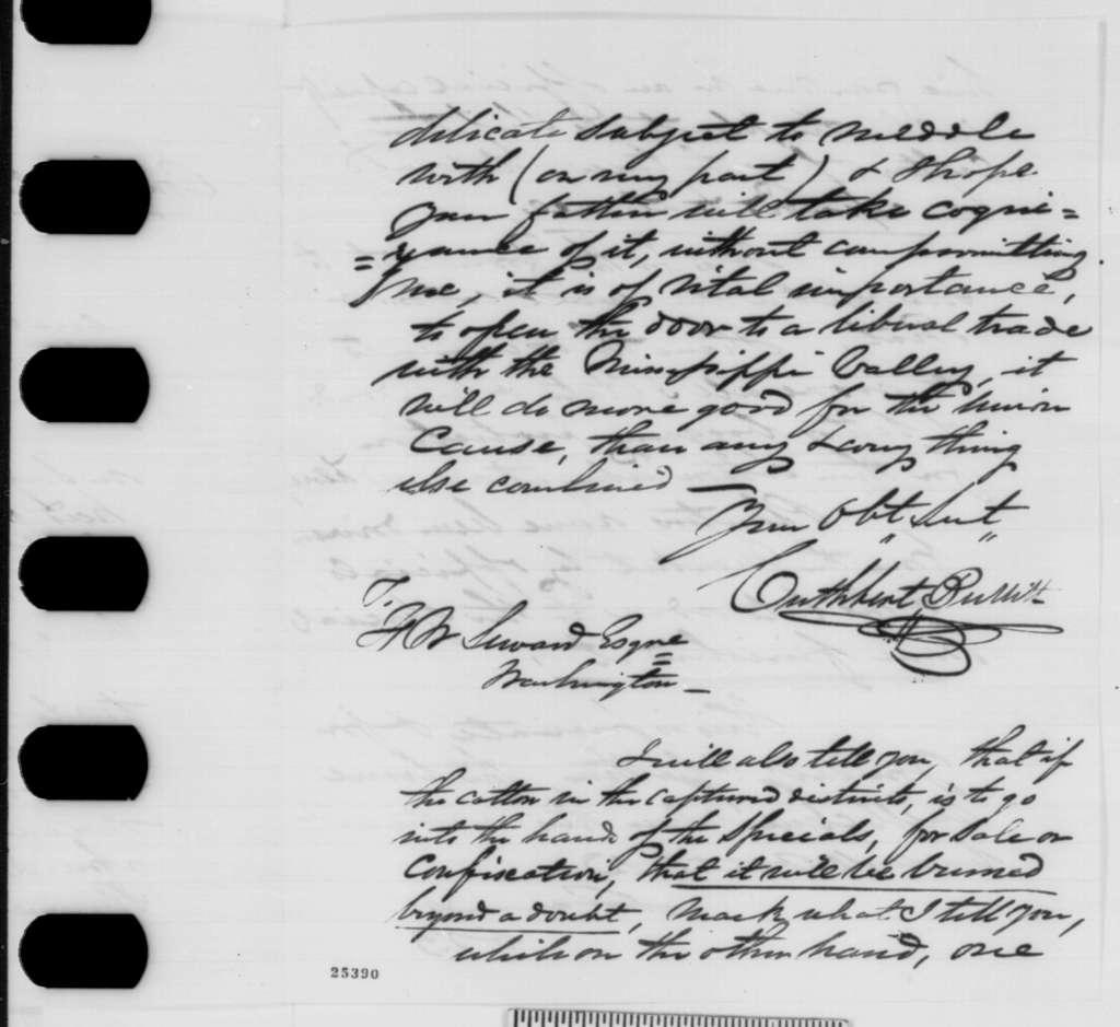 Cuthbert Bullitt to Frederick W. Seward, Friday, August 07, 1863  (Affairs in New Orleans)
