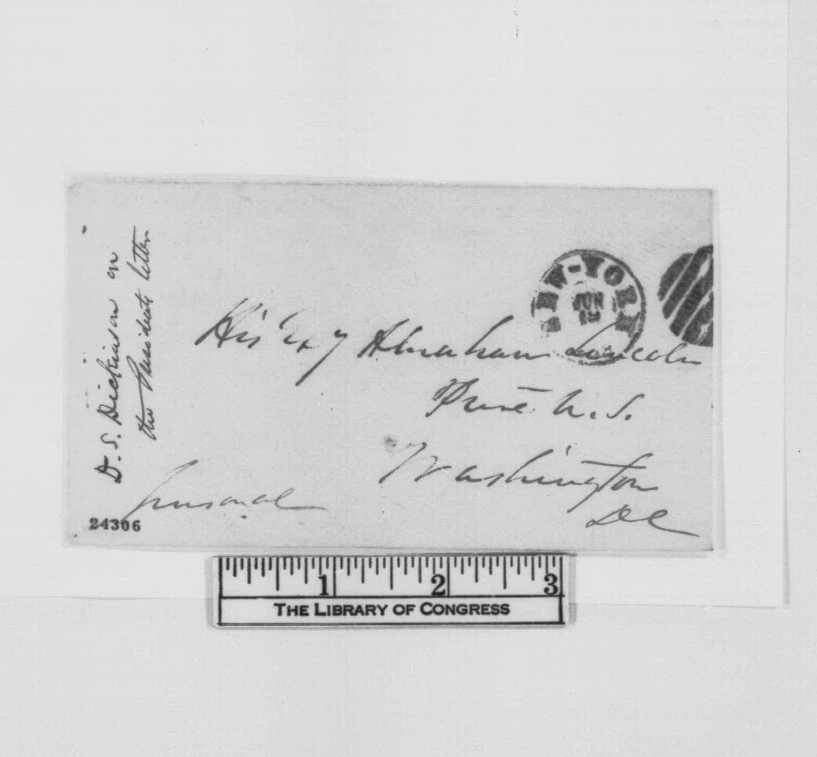 Daniel S. Dickinson to Abraham Lincoln, Friday, June 19, 1863  (Praises Lincoln's letter to Corning)