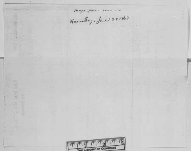 Darius N. Couch to Abraham Lincoln, Sunday, June 28, 1863  (Telegram concerning Confederate invasion of Pennsylvania)