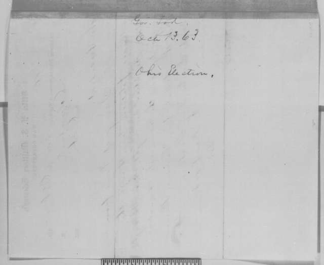 David Tod to Abraham Lincoln, Tuesday, October 13, 1863  (Telegram reporting Ohio election results)