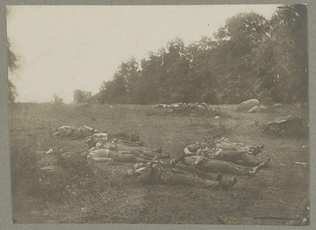 """Dead in """"the wheat field"""", Gettysburg"""