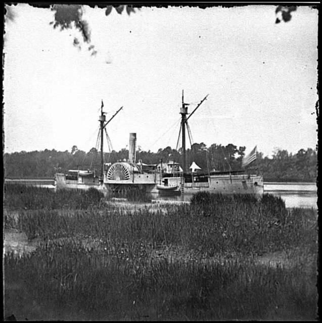 [Deep Bottom, Va.  U.S. gunboat Mendota (in service May 2, 1864) on the James]