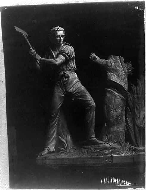 "[Detail of ""Progress of Civilization,"" east pediment of the Senate wing, U.S. Capitol]"