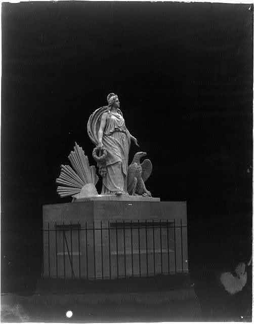 "[Detail of ""Progress of Civilization"" east pediment of the Senate wing, U.S. Capitol]"