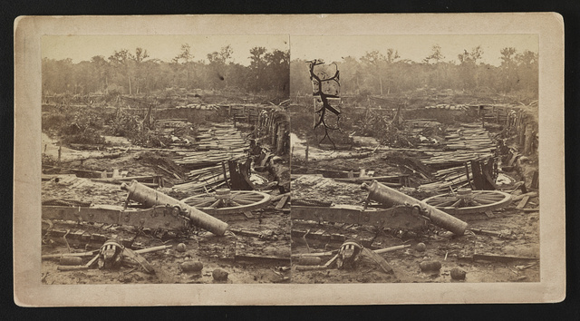 [Detritus of war within the earthworks after the surrender of the Confederates at Port Hudson, Louisiana]