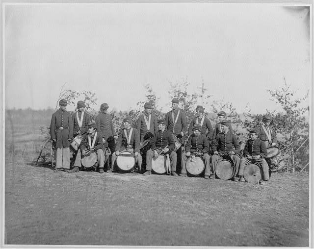 Drum Corps of the 61st New York Infantry. Falmouth, Va., March 1863