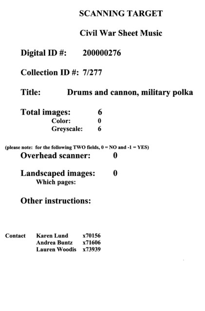 Drums and cannon, military polka