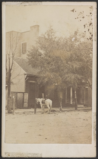 Dwelling house of father-in-law of John Morgan, the guerrilla. Murfreesboro, Tenn. Formerly head quarters of provost guard of Army of Cumberland / / Butler, Bonsall & Co., Army photographers, General Rousseau's division.
