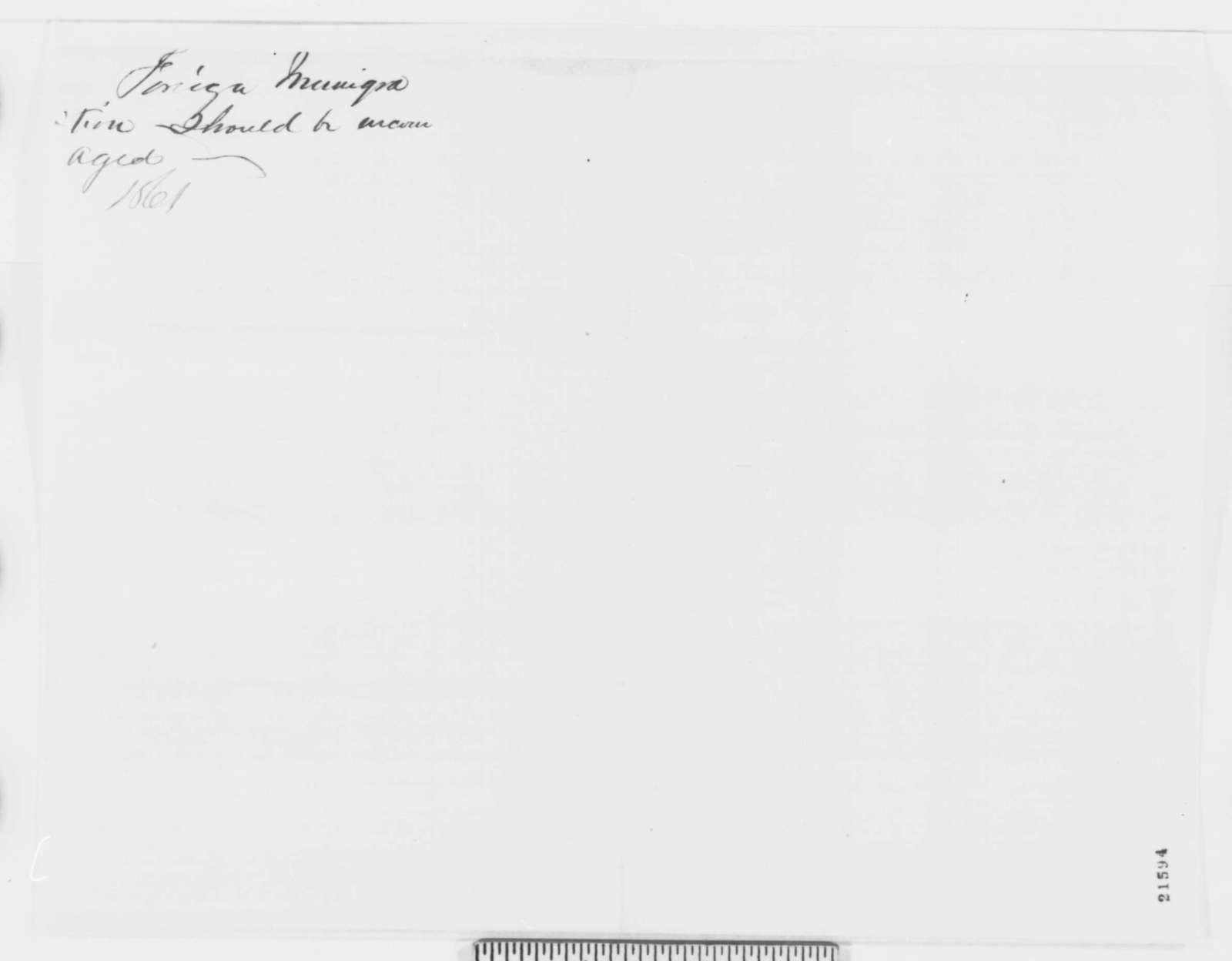 E. G. Roberts to John G. Nicolay, Saturday, February 07, 1863  (Seeks office)