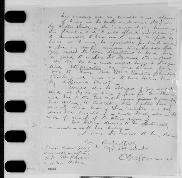 E. M. Bruce to Abraham Lincoln, Tuesday, October 06, 1863  (Announces death of Ben Hardin Helm)