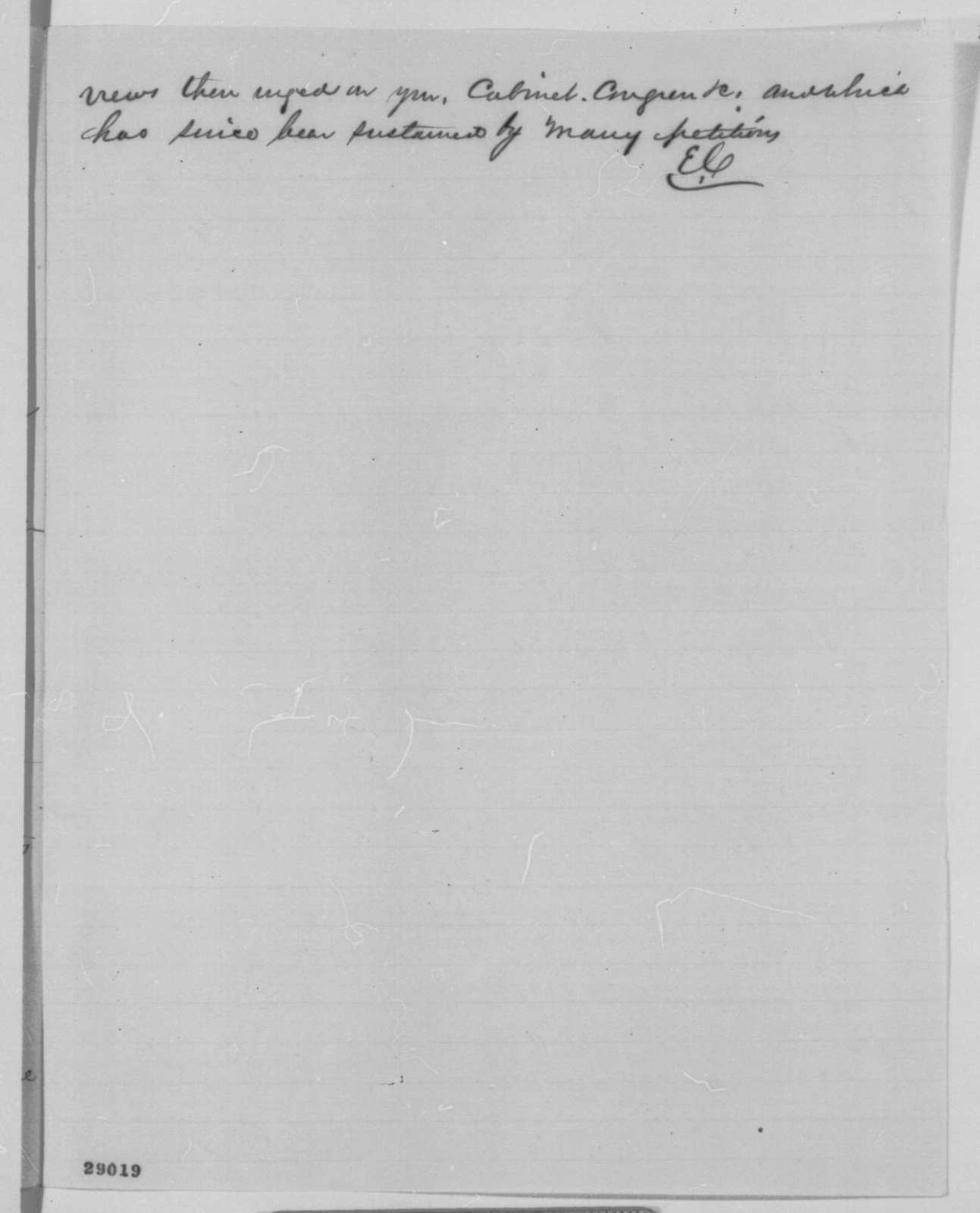 Edgar Conkling to Abraham Lincoln, Thursday, December 31, 1863  (Minerals in the Rocky Mountains)