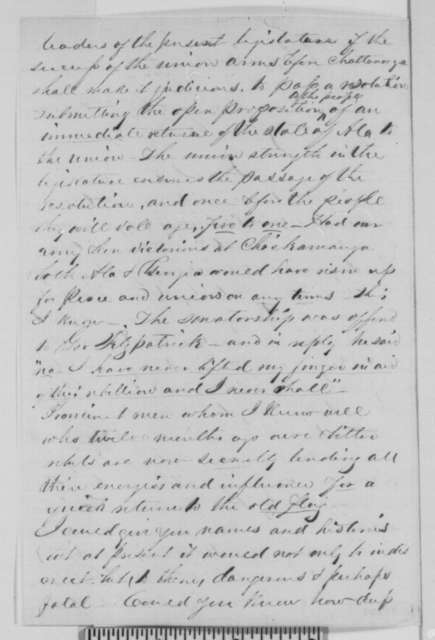 Edmund Fowler to Abraham Lincoln, Tuesday, October 27, 1863  (Political affairs in Alabama)