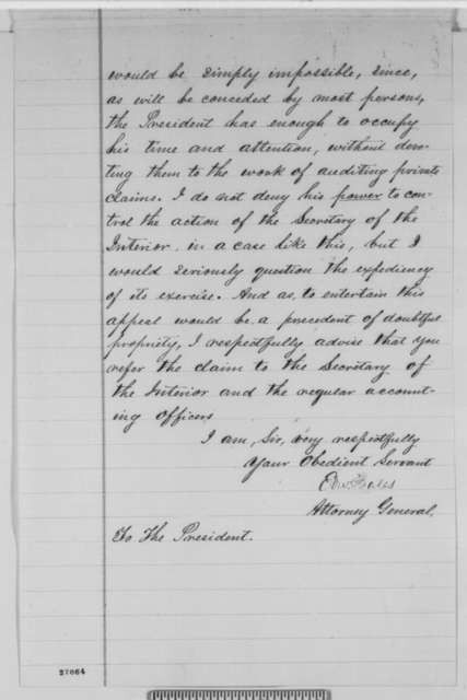Edward Bates to Abraham Lincoln, Friday, October 09, 1863  (Case of Lewis Bollman)