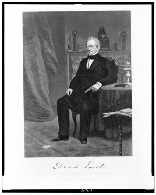 Edward Everett / From the original painting by Chappel in the possession of the publishers.